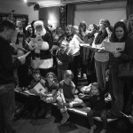Carol Singing at The Claude Pub (photo by Henry Bird - www.coverthecake.com)